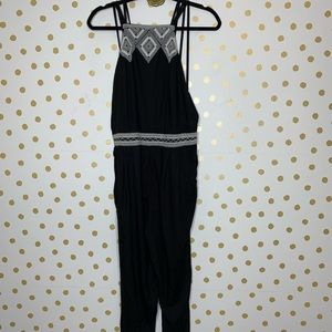 Abercrombie & Fitch Embroidered Black Jumpsuit M
